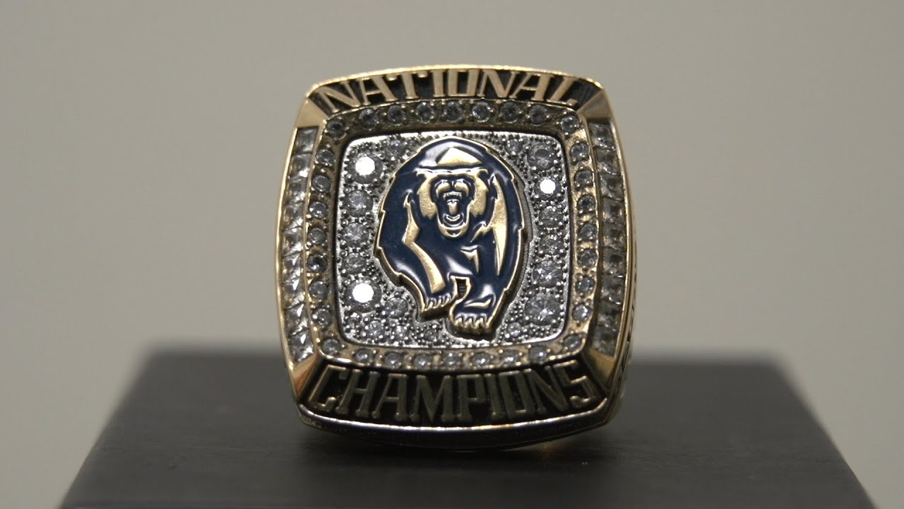ring football rings crimson alabama championship tide national ncaa