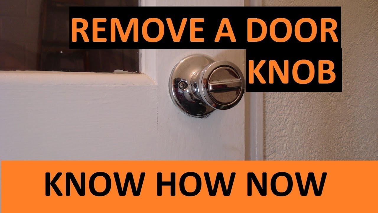 How to Remove a Door Knob - YouTube