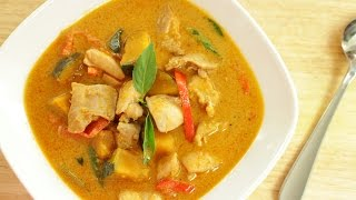 Thai Red Curry Chicken & Squash แกงเผ็ดไก่ - Hot Thai Kitchen