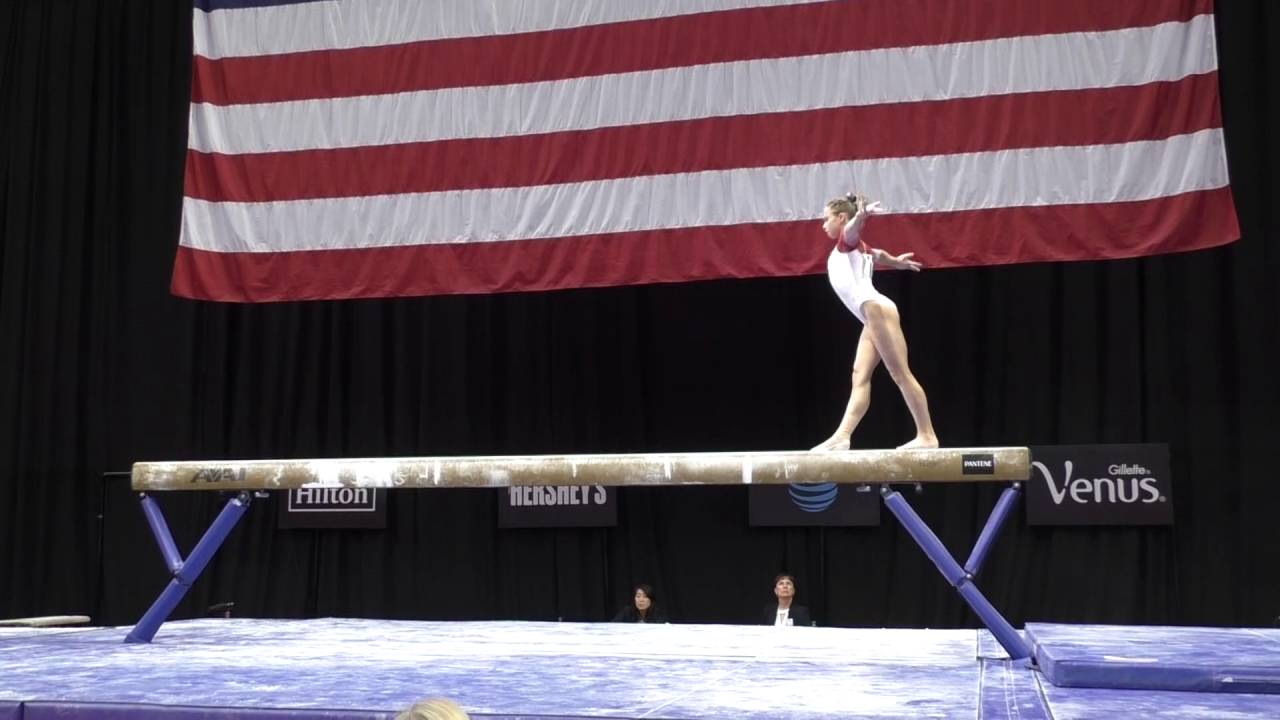ragan smith balance beam pu0026g gymnastics sr women day 2 youtube