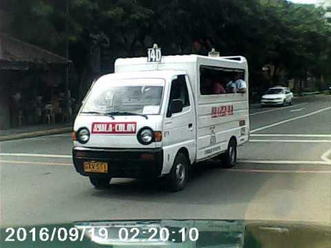 Cebu City: an incident caught from my cam. in Chong Hua hospital between a taxi and a private car