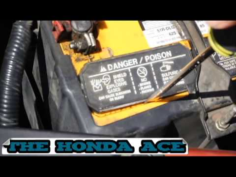 How To Add Water To Car Battery The Honda Ace Youtube