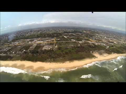Vol au dessus des plages de pointe noire