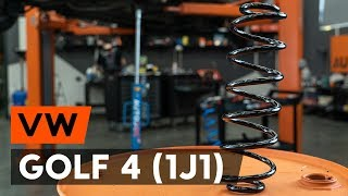 Kaip pakeisti galiniai pakabos spyruoklė VW GOLF 4 (1J1) [AUTODOC PAMOKA]