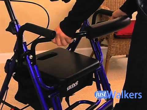 Just Walkers: DRIVE Duet Transport Chair/Rollator