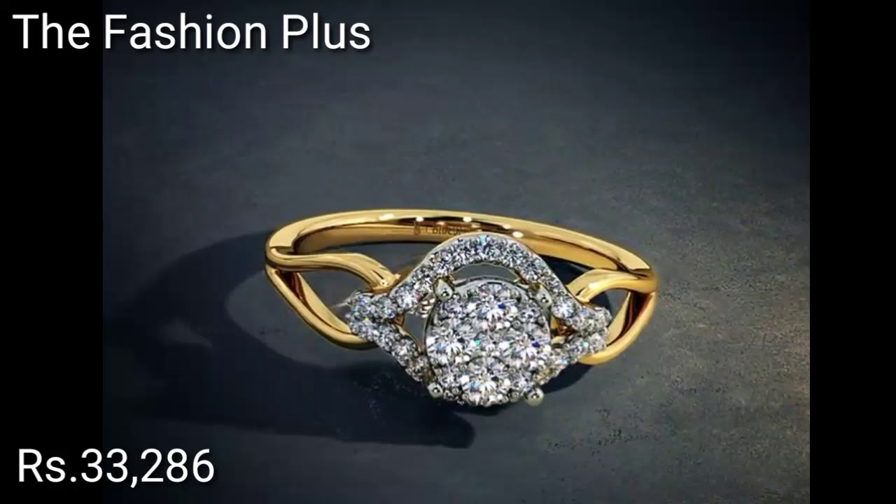 Diamond Gold Rings Designs With PRICE BY BLUE STONE - YouTube