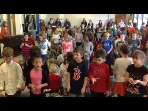 "Union Memorial School 2nd Graders Sing ""Golden Rule"" Song  UMS Music"