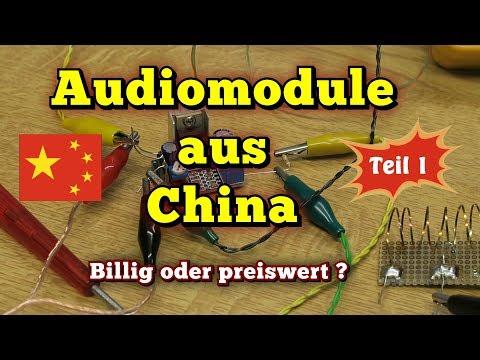 Billige Audiomodule aus China - vermessen und geprüft...