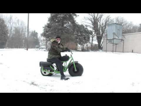 Manco Fat Cat Minibike in the snow
