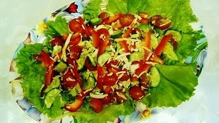Салат Овощной с Сыром. Сочный Овощной Салат