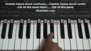 Maha Ganapathim Song - Piano Tutorials (Nata Raag) | 7013658813 - PDF NOTES/BOOK - WHATS APP US