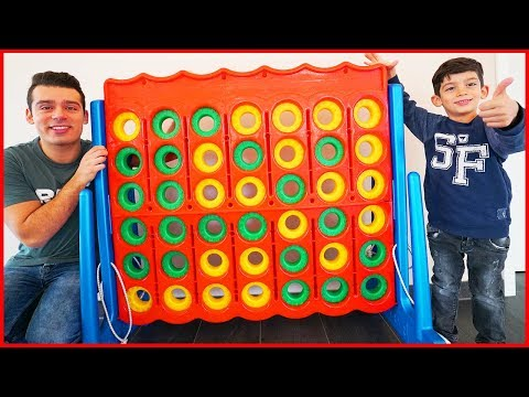 Funny GIANT CONNECT 4 FAMILY GAME Challenge Life Size Toys for Kids and Learn Colors for Children