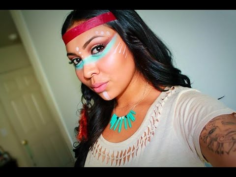 Native American Inspired Makeup Tutorial - YouTube