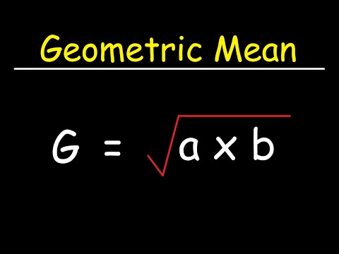 How To Calculate The Geometric Mean