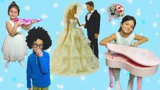 BARBİE VE KEN'İN DÜĞÜNÜNE GİTTİK! OYNAMALARA DOYAMADIK ÇOK EĞLENDİK - Barbie and Ken Wedding Day