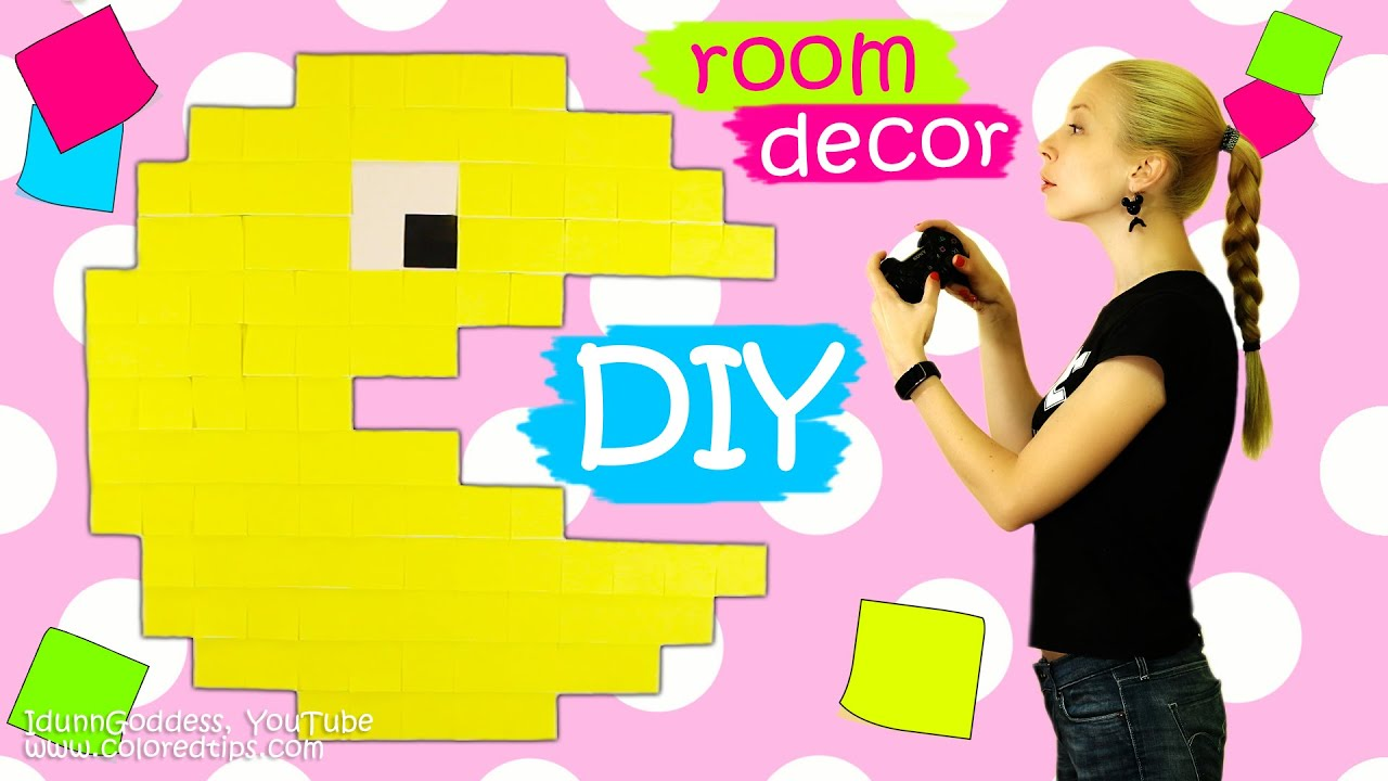 How To Make Pac-Man Out Of Sticky Notes – DIY Room Decor with Post ...