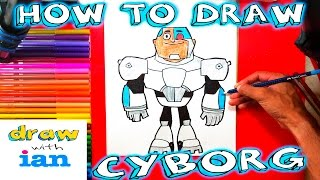 How to Draw Cyborg from Teen Titans Go Step by Step