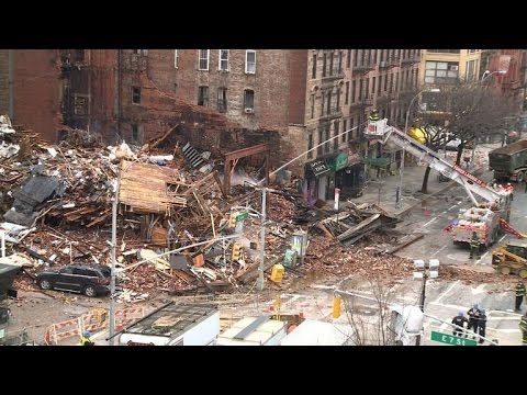 Gas line probed after NYC building explosion, fire