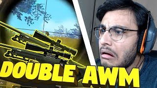 DOUBLE AWM INTENSE CHICKEN DINNER | PUBG MOBILE HIGHLIGHTS | RAWKNEE