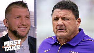 Tim Tebow Says Ed Orgeron Will Lead Lsu Past Dabo Swinney & Clemson For The Cfp Title | First Take