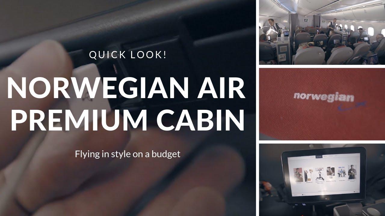 Perfect Norwegian Air PREMIUM Cabin