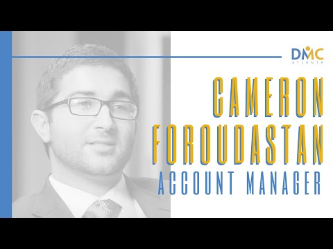 Cameron Foroudastan - DMC Atlanta Account Manager