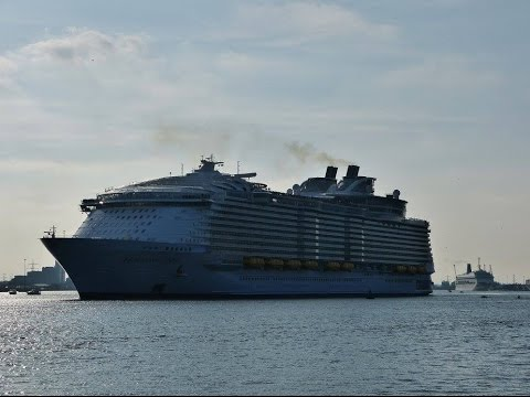 """Queen Victoria"", ""Britannia"", ""Harmony of the Seas"" & ""Oriana"" depart from Southampton - 29/05/2016"