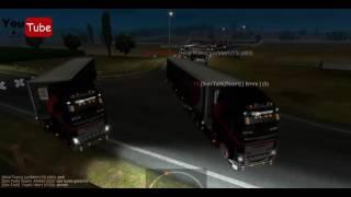 ETS2MP // 3 Şirketli Ortak Konvoy // [SonTürk]Team [Hilal Trans] [HÜNKAR]™Lojistik 2017 Video