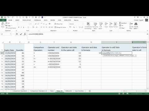Excel COUNTIFS: Comparison Operators And Dates