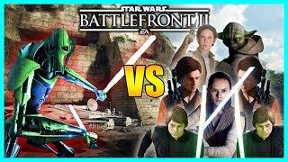 General Grievous vs 7 Heroes! - 54 Grievous Gameplay/Killstreak - Star Wars Battlefront 2