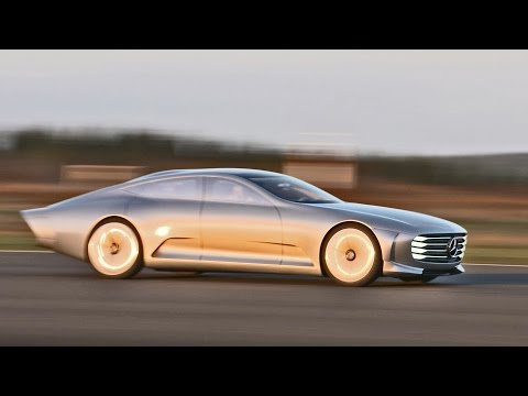 ► Mercedes Concept IAA (Intelligent Aerodynamic Automobile) - Airport Footage