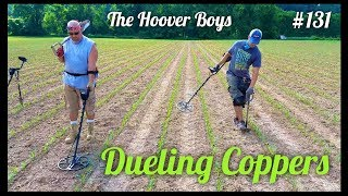 Metal detecting a planted corn field | Dueling Coppers