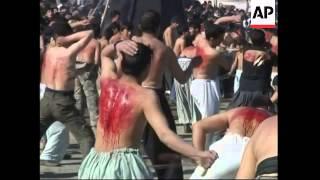 Afghanis observing Shiite holiday of Ashura, Karbala ADDS Islamabad, Tehran - 2008