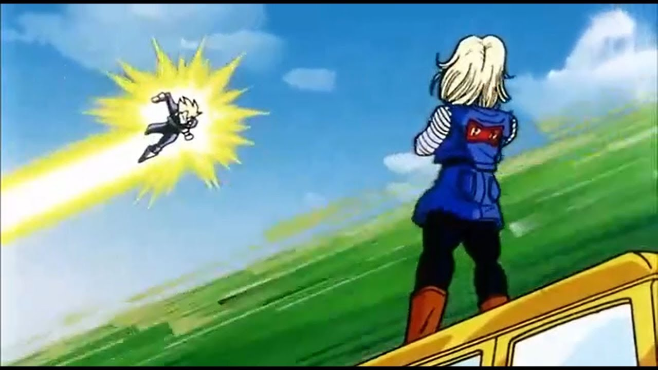 Vegeta & Android 18 chasing sense in the highway