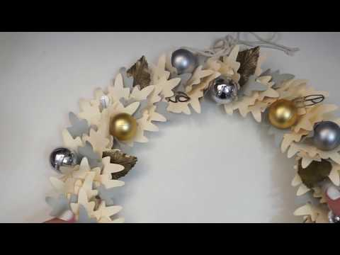 Как сделать новогодний венок из бумаги своими руками - Скрапбукинг мастер-класс / Aida Handmade
