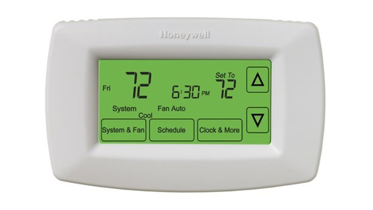 honeywell 7 day programmable touch screen thermostat rth7600d  [ 1280 x 720 Pixel ]