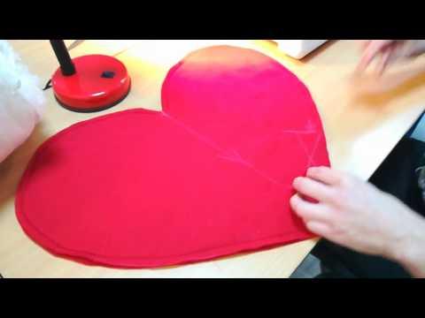 Poduszka w kształcie serca dla początkujących