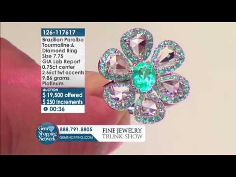 Brazil Paraiba Flower Ring l Live Auction ll Gem Shopping Network