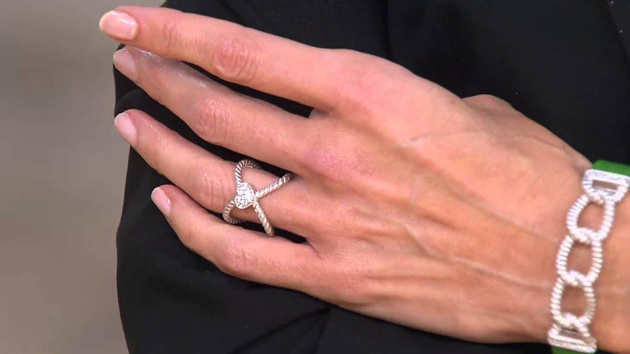 Judith Ripka Sterling & 14K Clad X Ring X Ring with Nancy Hornback ...