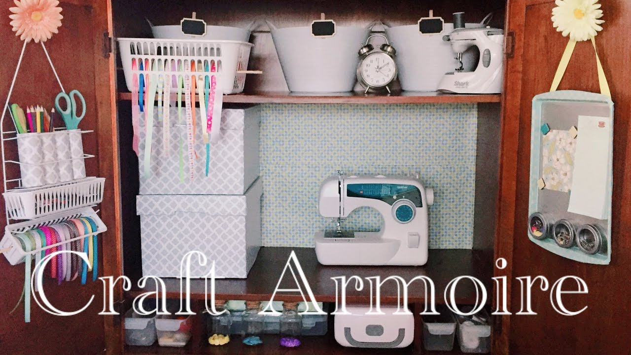 No Craft Room? No Problem!  Craft Armoire Tour  Youtube