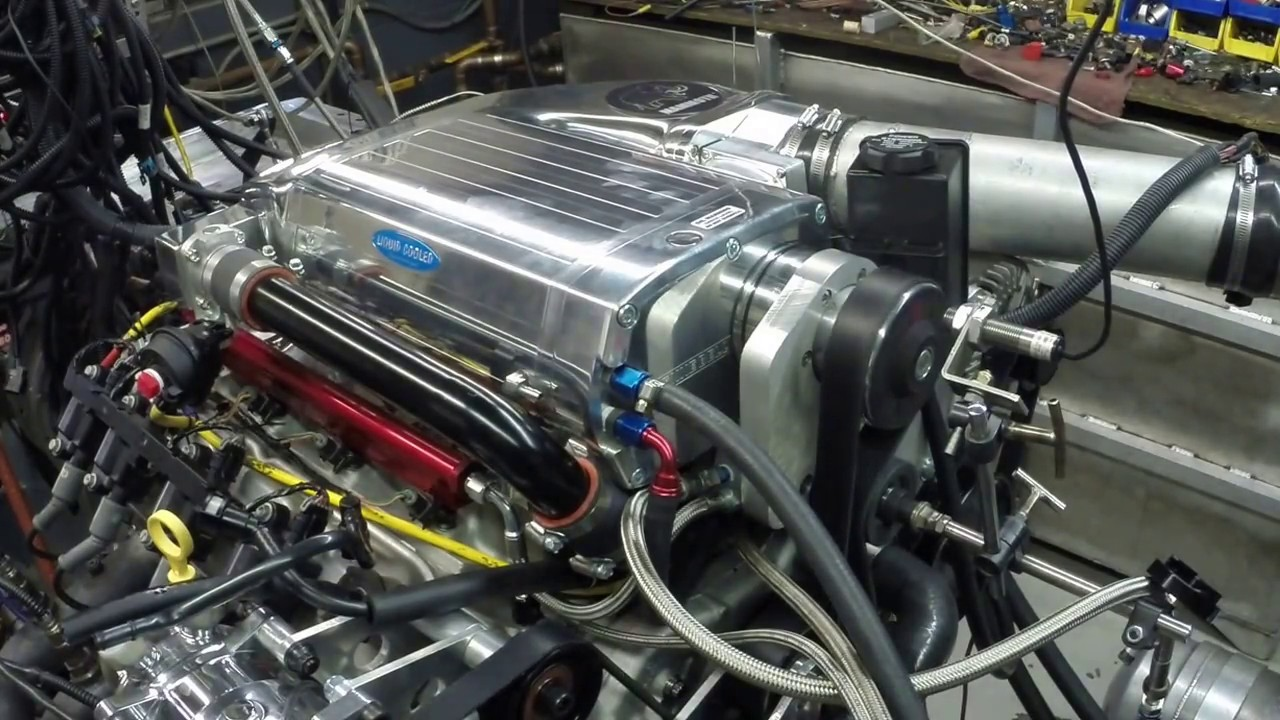 LSA equipped with a Kenne Bell supercharger on the engine dyno making 900 HP