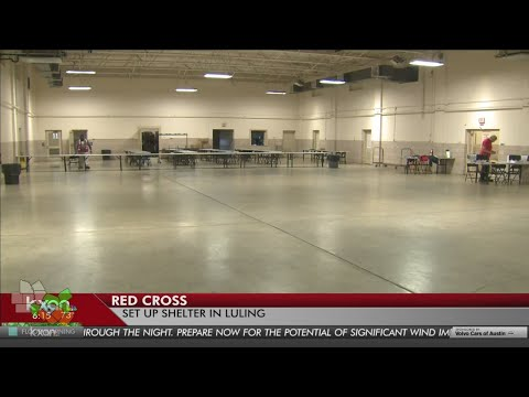 Red Cross opening shelter in Luling, Texas