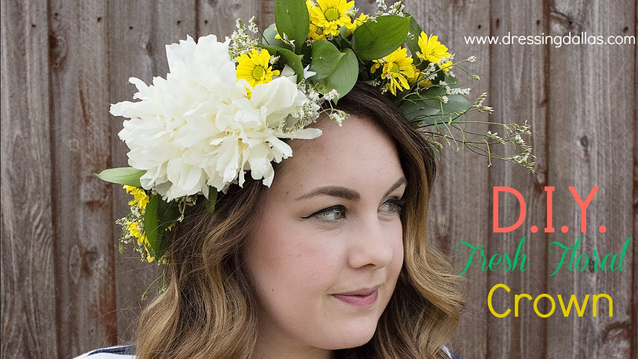 Diy Fresh Flower Crown Youtube