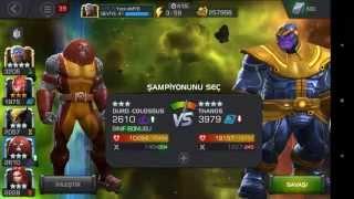 Marvel Şampiyonlar Turnuvası Thanos Dövüşü