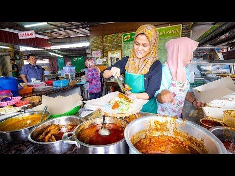 Street Food Malaysia - NASI KERABU + Malay Food Tour in Kelantan, Malaysia!