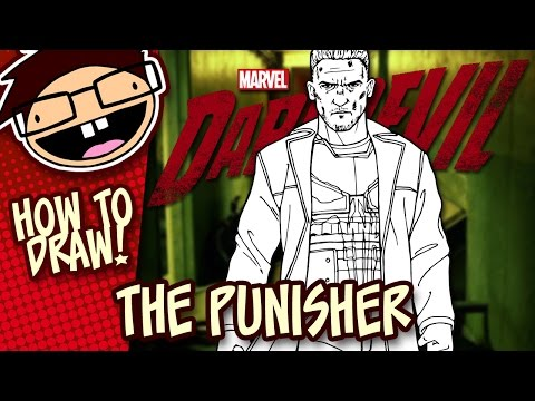 How to Draw THE PUNISHER (Netflix Daredevil Season 2) | Narrated Easy Step-by-Step Tutorial