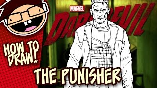 How to Draw THE PUNISHER (Netflix) | Narrated Easy Step-by-Step Tutorial