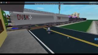 ROBLOX Caillou morre pelo AWVR 777 & AWVR 767 o trem de carga Runaway