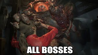 Resident Evil 2 Remake  - All Bosses (With Cutscenes) + All Endings HD 1080p60 PC