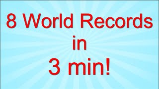 Arson Breaks 8 World Records in 3 Minutes!